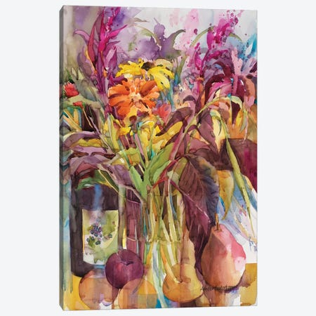 Petals Of Purple Canvas Print #BKK106} by Annelein Beukenkamp Canvas Art
