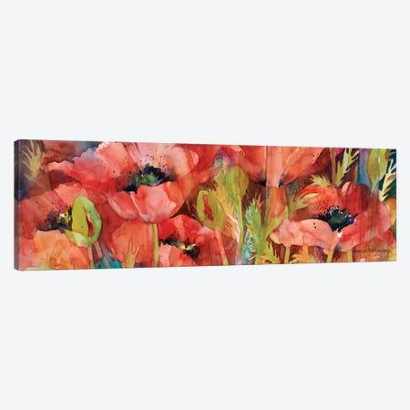 Petals On Parade Canvas Print #BKK107} by Annelein Beukenkamp Canvas Wall Art