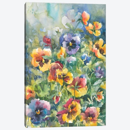 Picture Perfect Pansies Canvas Print #BKK108} by Annelein Beukenkamp Canvas Print