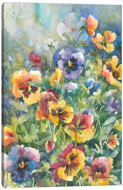 Picture Perfect Pansies Canvas Art Print