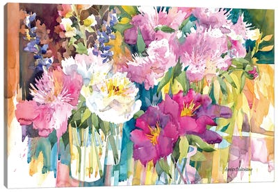 Plethora Of Peonies Canvas Art Print