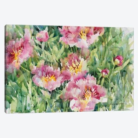 Posing In Pastel Pink Canvas Print #BKK114} by Annelein Beukenkamp Art Print