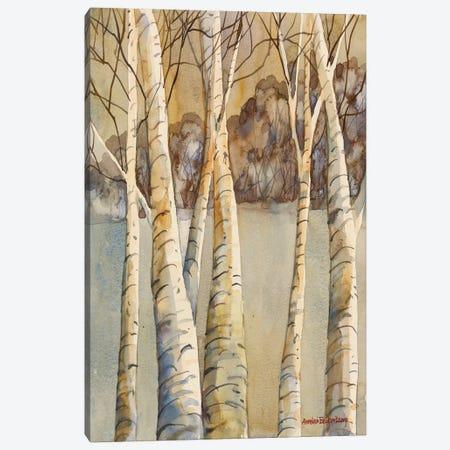 Birch Canvas Print #BKK11} by Annelein Beukenkamp Canvas Artwork