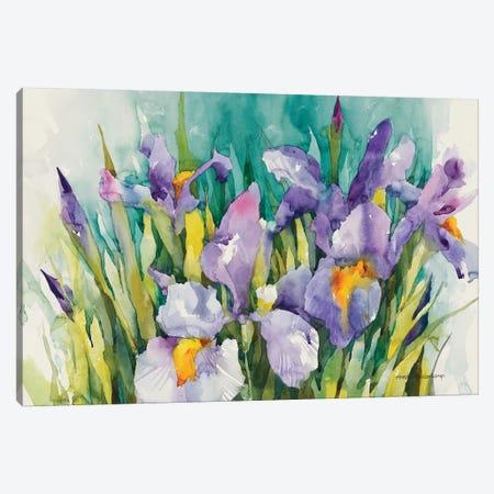 Purple Irises Canvas Print #BKK122} by Annelein Beukenkamp Art Print