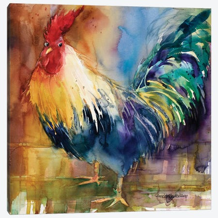 Renegade Rooster Canvas Print #BKK129} by Annelein Beukenkamp Art Print