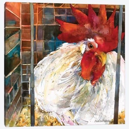 Rooster II Canvas Print #BKK130} by Annelein Beukenkamp Canvas Artwork