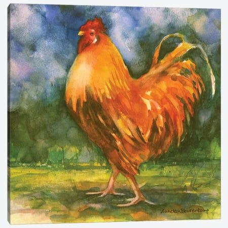 Rooster Field Canvas Print #BKK133} by Annelein Beukenkamp Canvas Artwork