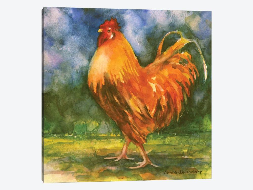 Rooster Field by Annelein Beukenkamp 1-piece Canvas Art Print