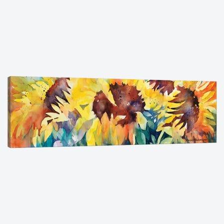 Row Of Sun 3-Piece Canvas #BKK135} by Annelein Beukenkamp Canvas Print