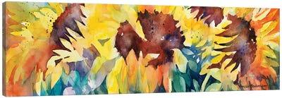 Row Of Sun Canvas Art Print