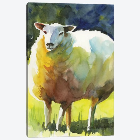 Sheep I Canvas Print #BKK138} by Annelein Beukenkamp Canvas Artwork