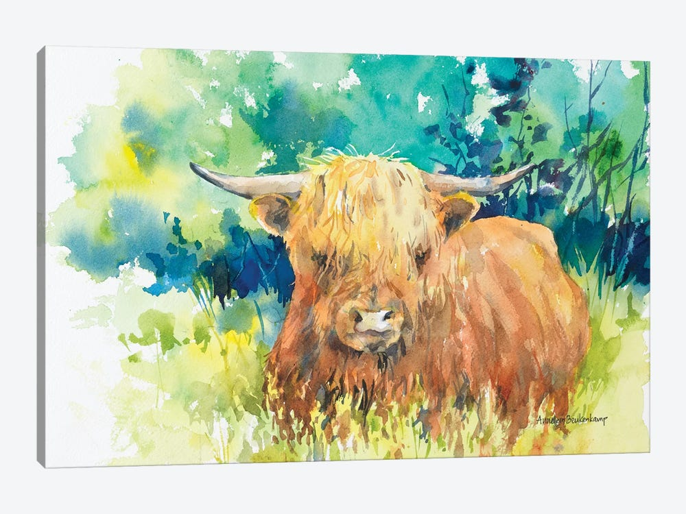 Steer I by Annelein Beukenkamp 1-piece Canvas Art
