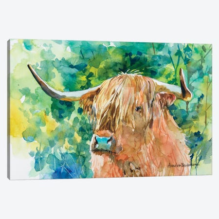 Steer II Canvas Print #BKK157} by Annelein Beukenkamp Art Print