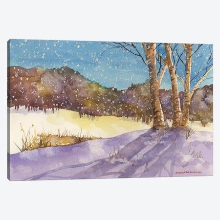 Birch, Turquoise Sky 3-Piece Canvas #BKK16} by Annelein Beukenkamp Art Print
