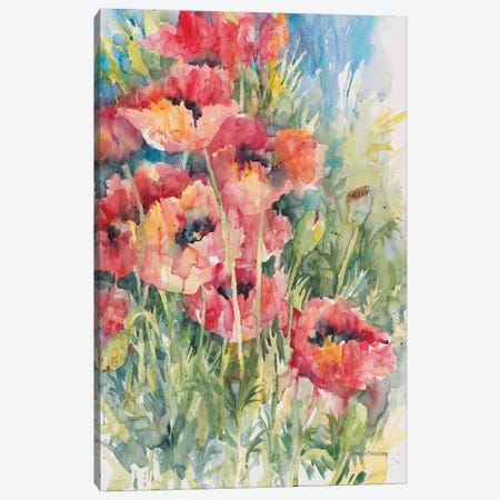 Blooming Blaze Canvas Print #BKK17} by Annelein Beukenkamp Canvas Print