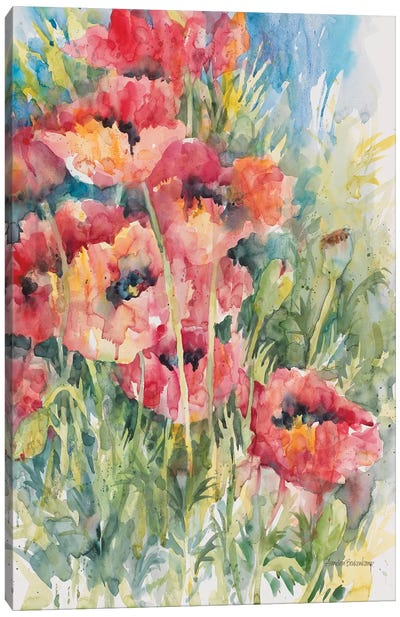 Blooming Blaze Canvas Art Print