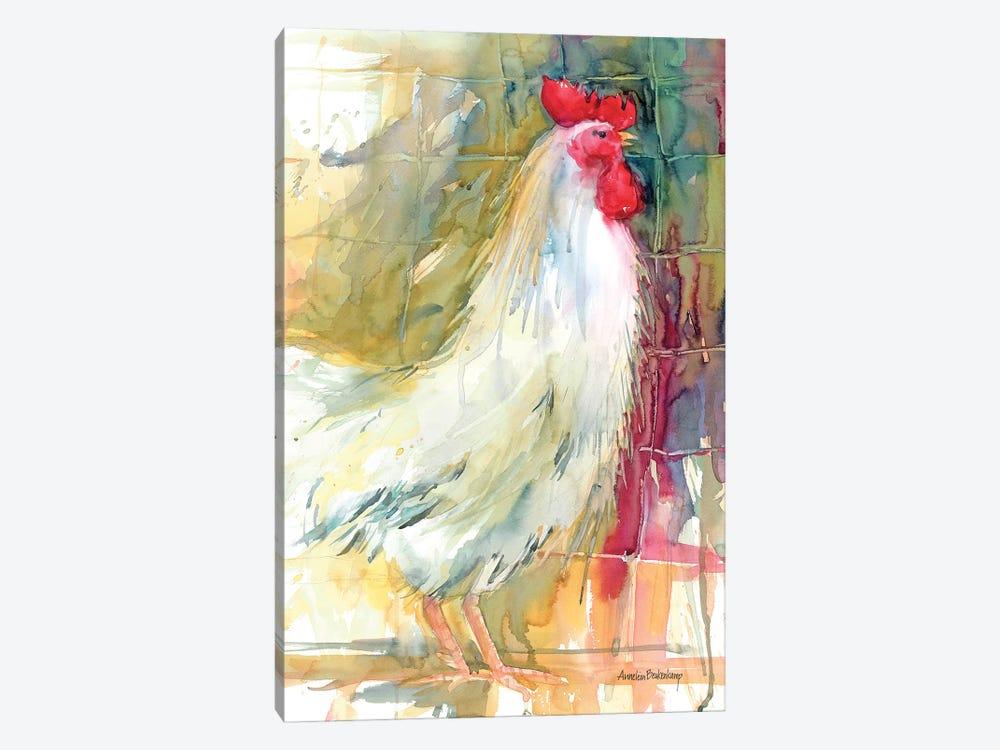 White Rooster by Annelein Beukenkamp 1-piece Canvas Art