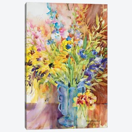 Blue Vase Canvas Print #BKK20} by Annelein Beukenkamp Canvas Art Print