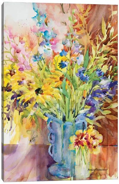 Blue Vase Canvas Art Print