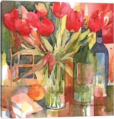 Bottles & Blooms Canvas Art Print