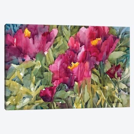 Burgeoning Blossoms Canvas Print #BKK26} by Annelein Beukenkamp Canvas Artwork