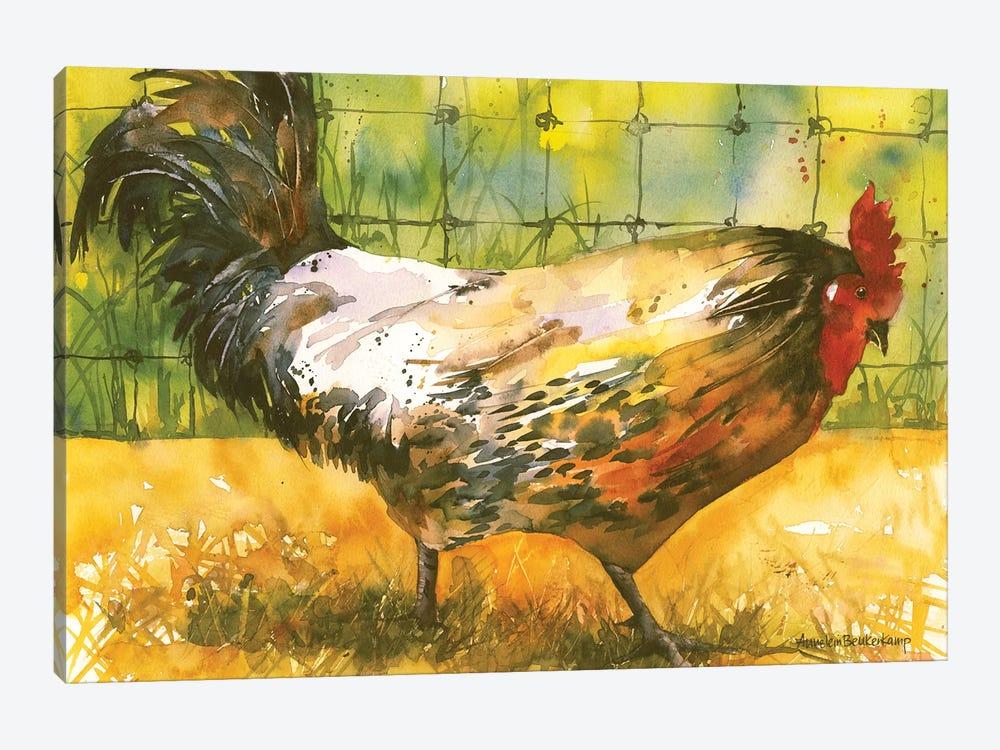 Chicken Fence by Annelein Beukenkamp 1-piece Art Print