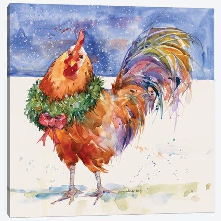 Christmas Crower Canvas Print #BKK31} by Annelein Beukenkamp Canvas Artwork