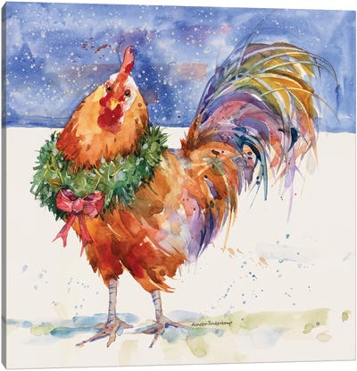 Christmas Crower Canvas Art Print