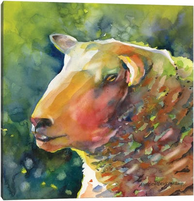 Ewe Look Baa-velous Canvas Art Print