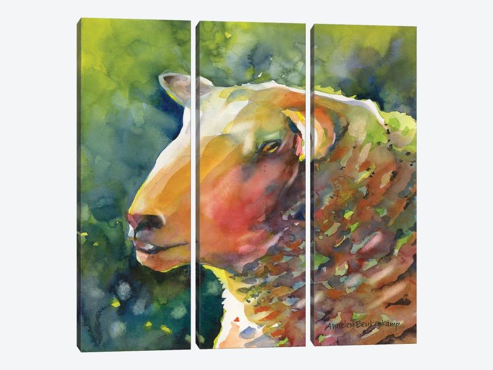 Ewe Look Baa-velous by Annelein Beukenkamp 3-piece Canvas Artwork