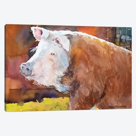 Farmers Hog Canvas Print #BKK46} by Annelein Beukenkamp Canvas Artwork