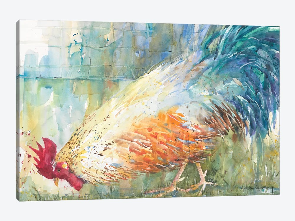 Feathered Forager 1-piece Canvas Art Print