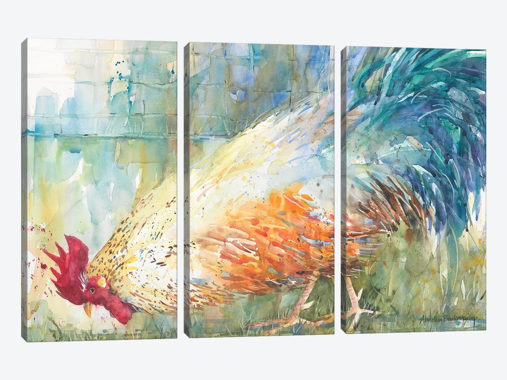 Feathered Forager 3-piece Art Print