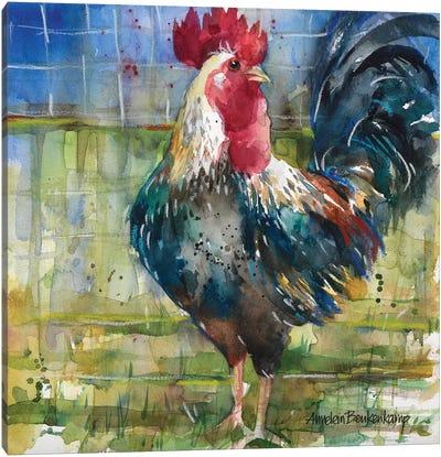 Fenced Fowl Canvas Art Print