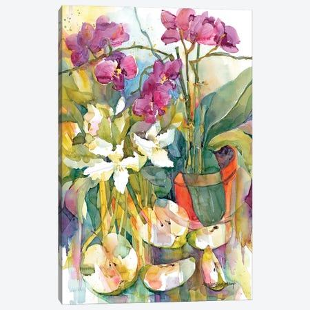 Apples & Orchids Canvas Print #BKK4} by Annelein Beukenkamp Canvas Print