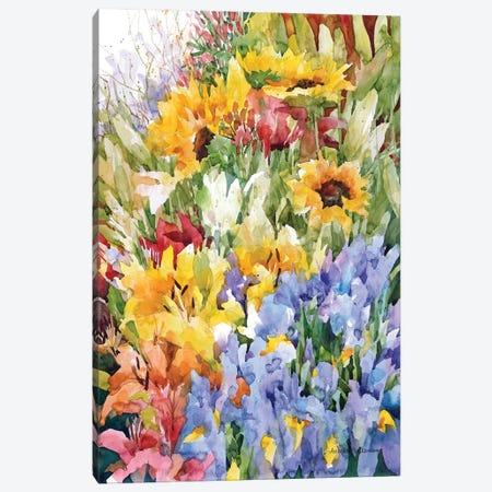 Flower Power Canvas Print #BKK52} by Annelein Beukenkamp Canvas Art