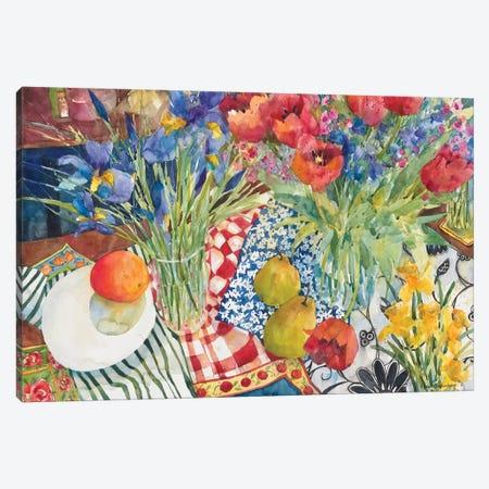 Flowers and Fruit Canvas Print #BKK54} by Annelein Beukenkamp Canvas Art Print