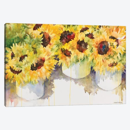 Follow The Sun 3-Piece Canvas #BKK56} by Annelein Beukenkamp Art Print
