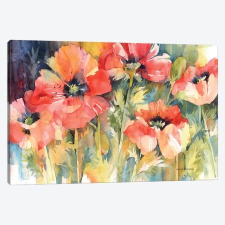 Garden Fireworks Canvas Print #BKK63} by Annelein Beukenkamp Art Print