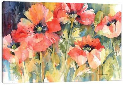 Garden Fireworks Canvas Art Print