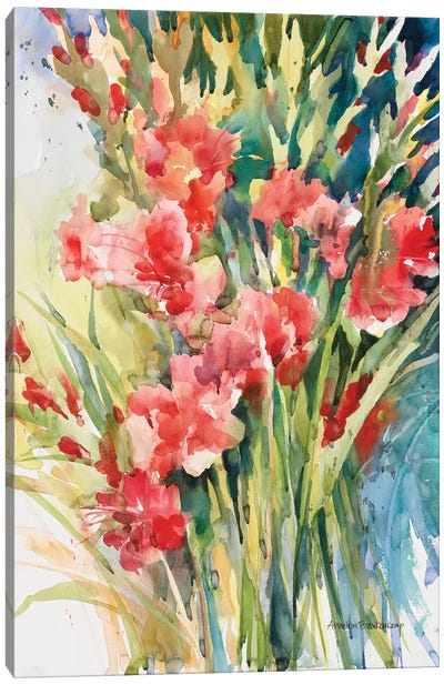 Gladiola Bunch Canvas Art Print