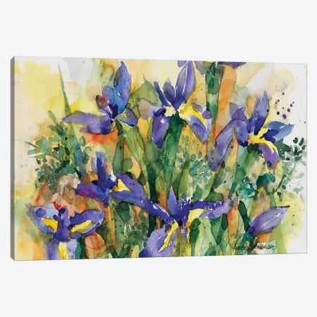Indelible Irises Canvas Print #BKK78} by Annelein Beukenkamp Canvas Wall Art
