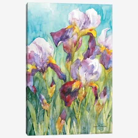 Iris Blue Skies Canvas Print #BKK80} by Annelein Beukenkamp Canvas Art Print