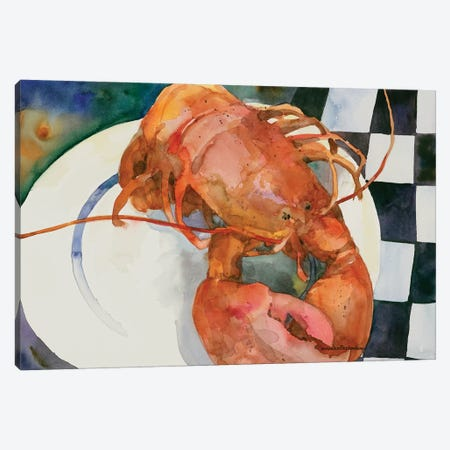 Lobster 3-Piece Canvas #BKK83} by Annelein Beukenkamp Canvas Art Print