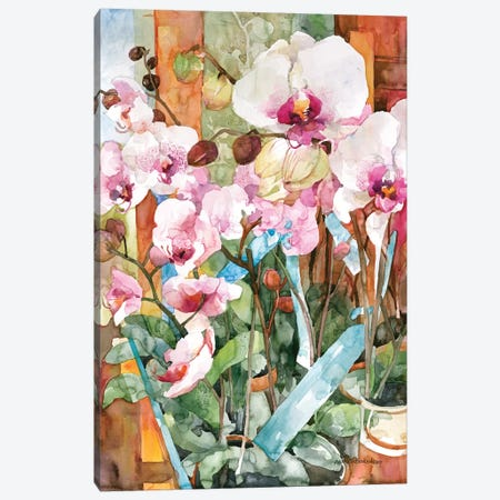 Orchid Dance Canvas Print #BKK93} by Annelein Beukenkamp Canvas Art
