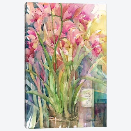 Orchid Gathering Canvas Print #BKK94} by Annelein Beukenkamp Canvas Art Print
