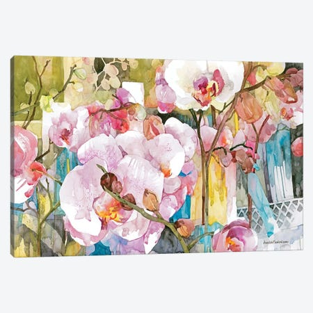 Orchid Oasis Canvas Print #BKK95} by Annelein Beukenkamp Canvas Print