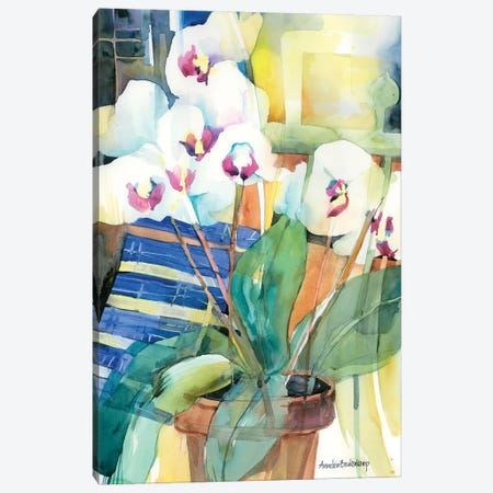 Orchid Offering Canvas Print #BKK96} by Annelein Beukenkamp Canvas Art Print