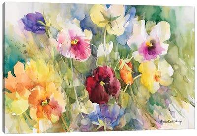 Pansies Posing Canvas Art Print