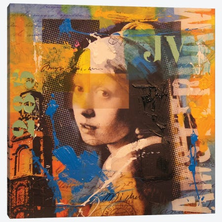 Girl Canvas Print #BKR23} by Micha Baker Canvas Artwork